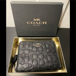 Coach black glitter boxed wallet